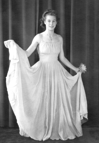 postwar evening dress