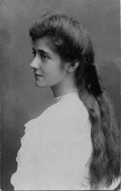 Long haired Edwardian girl